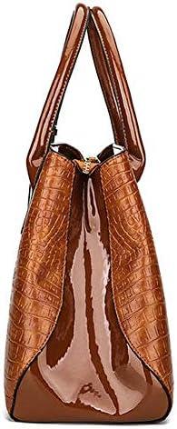 女性のクロコダイルハイエンドヴィンテージPUレザーハンドバッグショルダーバッグ YZUEYT