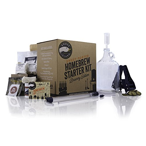 Goose Island 1 Gallon Small Batch Homebrew Starter Kit - Goose Island Sweet Porter Beer Brewing Recipe Kit With Fermentation Jug - Ingredients For Making Homemade Beer by Northern Brewer