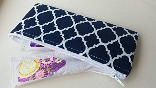 Tampon or sunglasses case- Navy and white by LaviLor Bags