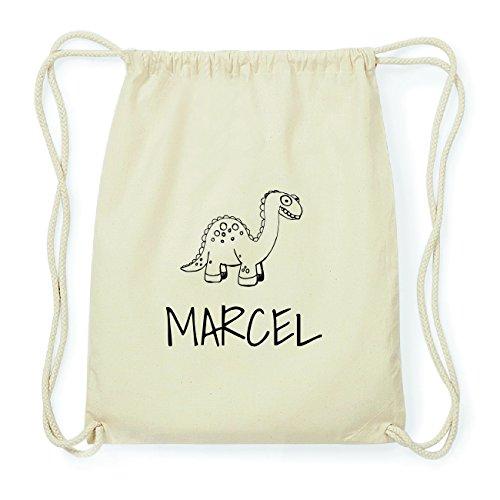JOllipets MARCEL Hipster Turnbeutel Tasche Rucksack aus Baumwolle Design: Dinosaurier Dino 3toAB5Os8