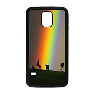 Best Quality [LILYALEX PHONE CASE] Colorful Rainbow Pattern For Samsung Galaxy S5 CASE-9