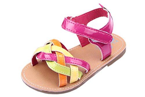 EOZY Baby Prinzessin Sandalen Sommer Anti-Rutsch Schuhe Rosa Fußlänge11cm
