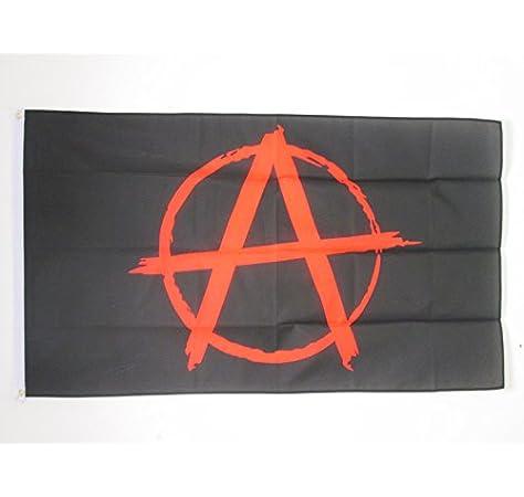 AZ FLAG Bandera ANARQUÍA 90x60cm - Bandera ANARQUISTA - Movimiento ANARQUISTO 60 x 90 cm: Amazon.es: Hogar