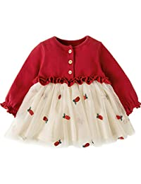 Mornyray Toddler Infant Girls Floral Dress Play Wear Ruffle Tulle Tutu Onesie