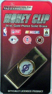 Milwaukee Brewers MLB Licensed Gold Plated Money Clip