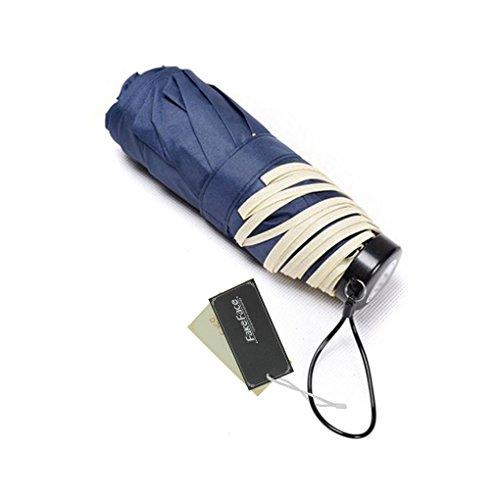 Mini Compact Manual Sun/ Rain Anti-UV Waterproof Windproof Umbrella