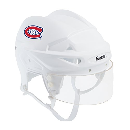 Franklin Sports Montreal Canadiens Mini Player Helmet - White Helmet w/Player Number Stickers - Great for Autographs - NHL Official Licensed Product