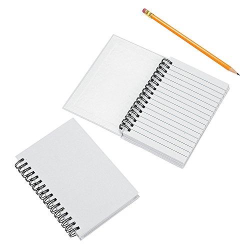 DIY White Canvas Spiral Notebooks