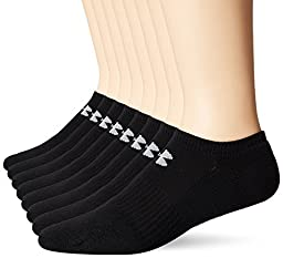 Under Armour Men\'s Charged Cotton 2.0 No Show Socks (8 Pack), Large, Black