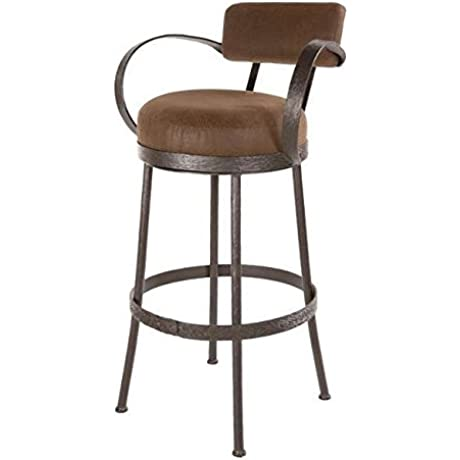 Cedarvale Iron Barstool W Back And Arms 30 In Std Faux Leather In Outback Berry 204969 OG 69150 O 276507 OG 142812 O 759482