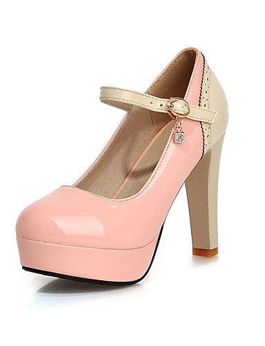 Punta Eu40 Black Redonda De Pink Zapatos negro Zq 5 Uk8 tacones Rosa tac¨®n 5 Plataforma Cn41 us9 Y Uk7 Mujer Eu42 semicuero Azul Fiesta vestido Uk8 tacones Cn43 us10 Noche Stiletto q0xfwx58F