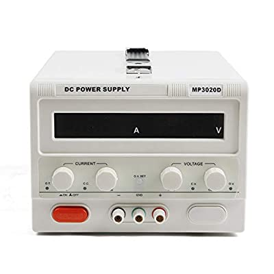 TFCFL MP3020D AC110V Triple-Output 0-30V 0-20A DC Power Supply Regulated Variable Digital Variable Triple Outputs Linear US Stock