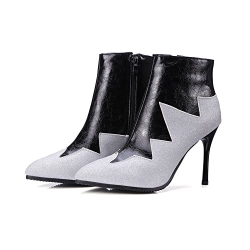 Toe nbsp;Color White Urethane Spikes BalaMasa ABL10661 Boots Assorted Pointed Stilettos Womens B6qRY