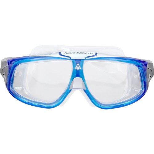 AQUA SPHERE Seal 2.0 Mens Mask, Clear Lens/Black Frame