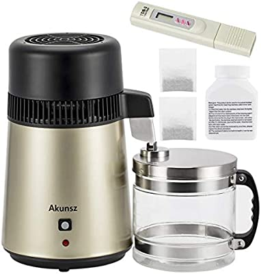 DESTILADOR DE AGUA, AKUNSZ Destilación Filtro Purificador 4L Acero ...