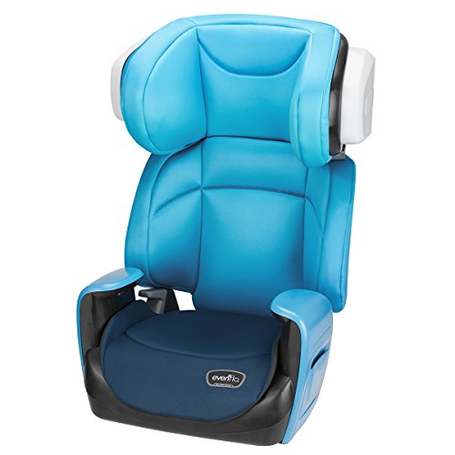 Reclining Booster (Evenflo Spectrum 2-in-1 Booster Car Seat, Bubbly Blue)