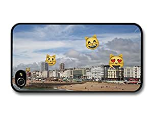 Funny Emoji Smiley Faces Attack Brighton case for iPhone 4 4S