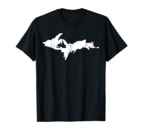 Mens Michigan Snowmobile Tshirt, Yooper Sled Tee, UP Snowmobiling