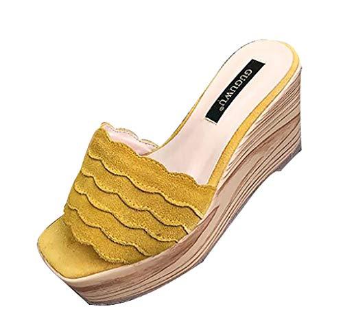 Flip Open Soft Flops Toe A Da Platform Infradito Unbekannt Beach Sandali Donna Ruffle Sweet wfZxPS1qt