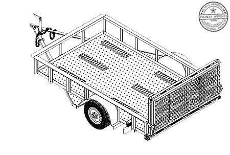 Master Plans & Design Model 10CY 6' x 10' Motorcycle/Utility Trailer Plans Blueprints by Master Plan & Design