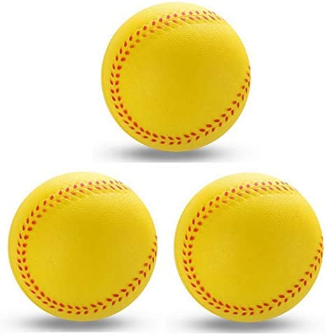 Dia 9 cm Gelb JVSISM 1 St/üCke Neue Universal Handgemachte Baseball PVC Oberen Harte und Weiche Baseball B?Lle Softball Ball Training /üBung Baseball B?Lle