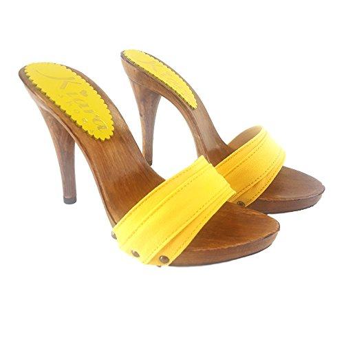 Tacco Gialli Shoes Km7101 Giallo Kiara 12 Zoccoli Da Mare wq6wXCZ
