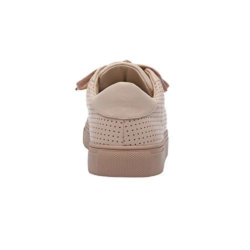 Pic / Betala Ollyn | Kvinnor Snör Åt Upp Perforerat Läder Eller Mocka Bekvämt Sätt Sneaker (ny Vår) Rodna Läder