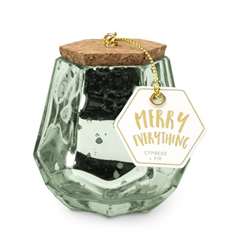 Paddywax Mercury Prism Holiday Collection Scented Soy Wax Candle, 2.5-Ounce, Cypress & Fir