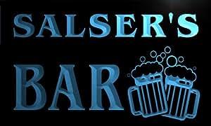 w043279-b SALSER Name Home Bar Pub Beer Mugs Cheers Neon Light Sign