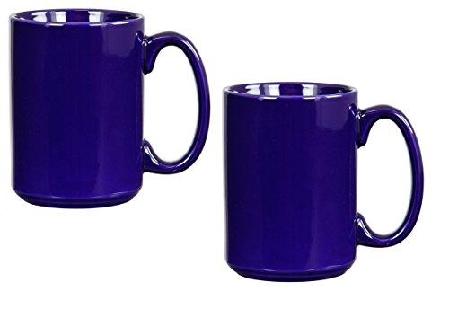 - El Grande Style Large Ceramic Coffee Mug With Big Handle, Cobalt Blue 15 oz. (Pack of 2)