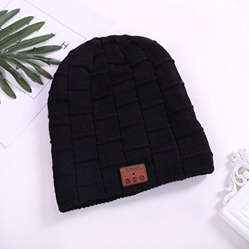 Bluetooth Beanie Hat for Men Women(Black),Wireless Bluetooth Headset Hat Music Hat with Built-in Stereo Speakers Fit for Outdoor Sports, Skiing ,Running, Skating, Walking