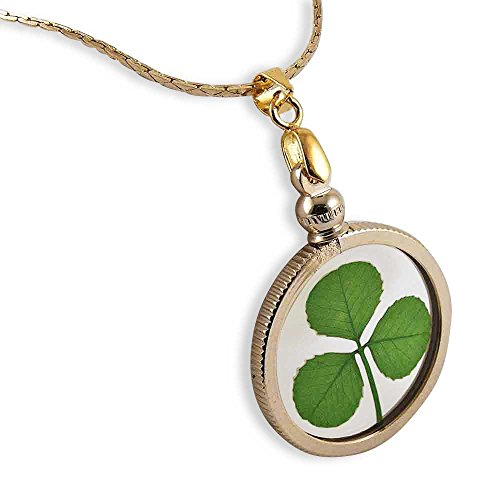 Clovers Online Genuine Shamrock Gold Charm Necklace