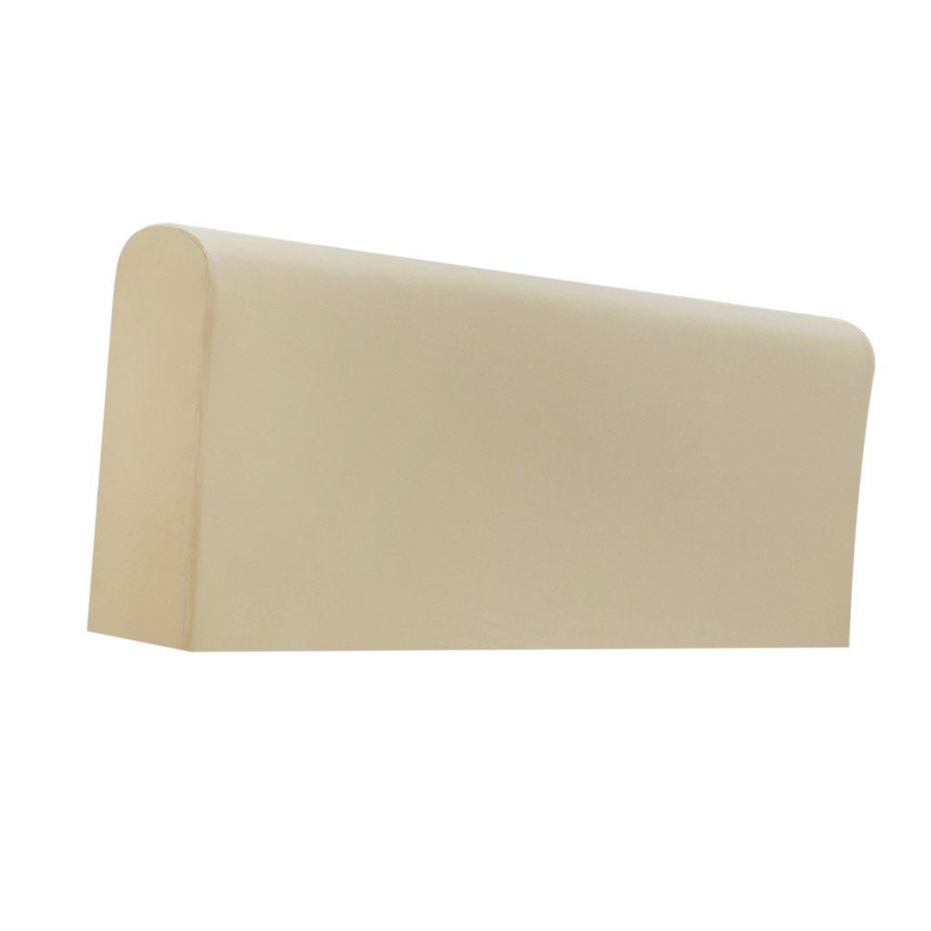 Fityle Stretch Wooden Leather Bed Headboard Cover Protector Slipcover For 140-170cm - Champagne