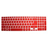 CaseBuy® Ultra Thin Silicone Keyboard Cover Protector Skin for Acer Aspire E1-510 E1-510P E5-511 E5-511P E5-521 E5-521G E1-522 E1-530 E5-531 E1-532 E1-532P E5-551 E5-551G E1-570 E5-571 E5-571G E5-571P E5-571PG E1-572 E1-572P E1-731 E1-771 E5-721 E5-731 E5-771 E5-771G V3-551 V3-551G V3-571 V3-571G V3-572 V3-572G V3-572P V3-572PG V3-731 V3-731G V3-771 V3-771G V3-772G V5-561 V5-561PG V5-561G V5-561P / Aspire V17 Nitro VN7-791G series US Layout (Semi-Red)