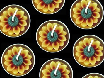 Sunflower Tealight Candles. 10 Pieces Per Pack ()
