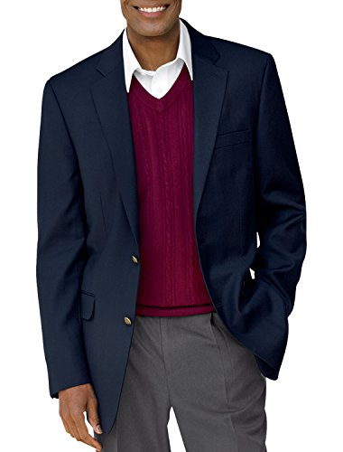 Gold Series by DXL Big and Tall Continuous Comfort Blazer Executive Cut, Navy 54 (Big Tall Coat)