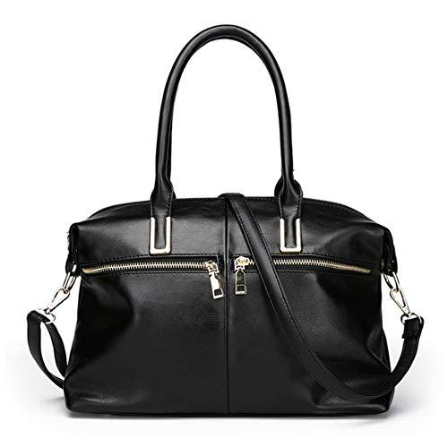 a verniciata Borse Design Fashion donna Meaeo Women in Shopper tracolla Borsa pelle Lussuose Borse Nero X7AwEq