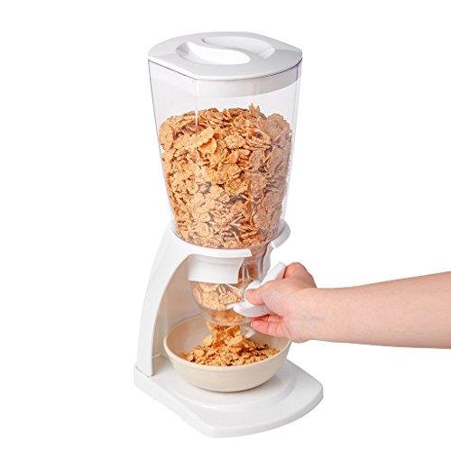 Balvi - Zerealienspender. Fassungsvermögen: 500 g Trockenprodukt. Hält die Lebensmittel länger frisch. Farbe: Weiß.