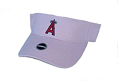 Los Angeles Angels of Anaheim Women's Visor Velcro OSFA Pink Hat Cap