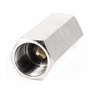 Silver Tone 15mm 3/8PT Female Thread Solid Brass One Way Check Valve