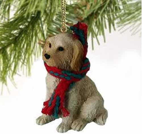 - 1 X Cream Labradoodle Christmas Ornament