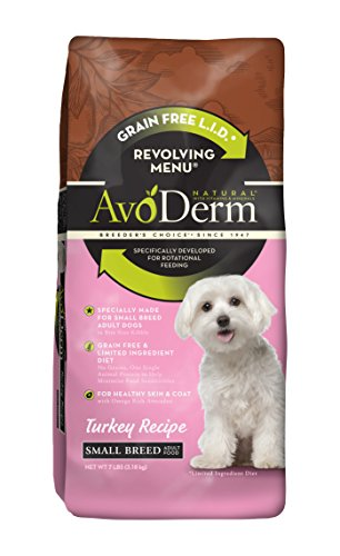 AvoDerm Natural Revolving Menu Small Breed Turkey Dog Food, 7-Pound