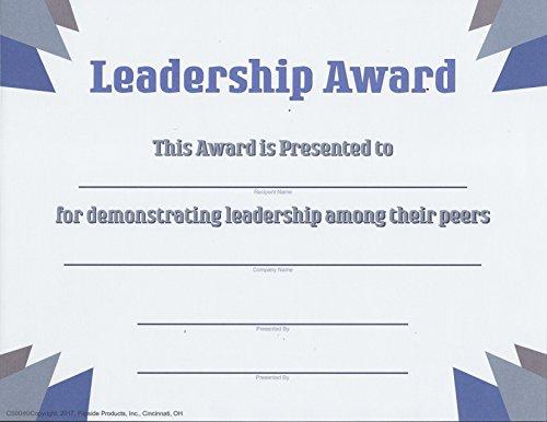 Leadership Award - Contemporary Series Matte Paper - Quantity 150