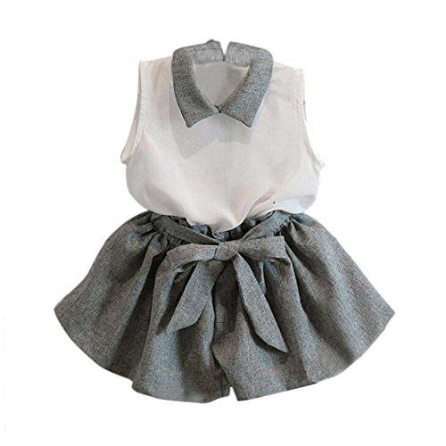 Koly Girls Sleeveless T-shirt Shorts Set Clothes Suit OL style (1-2Y)