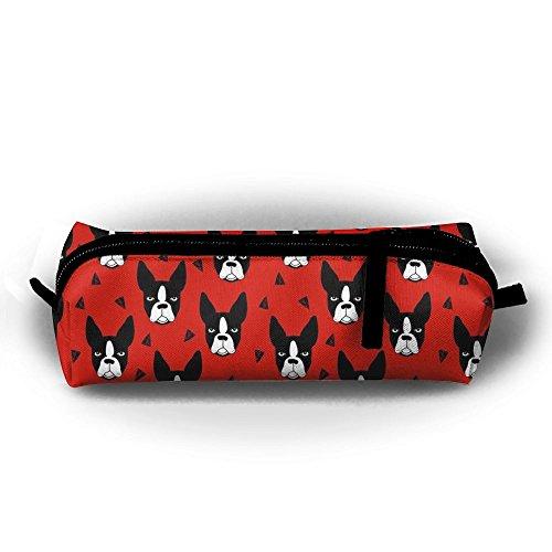 - KIOT156 Cute Boston Terrier Dog Pen Case Pencil Bag Holder Makeup Cosmetic Pouch Bag