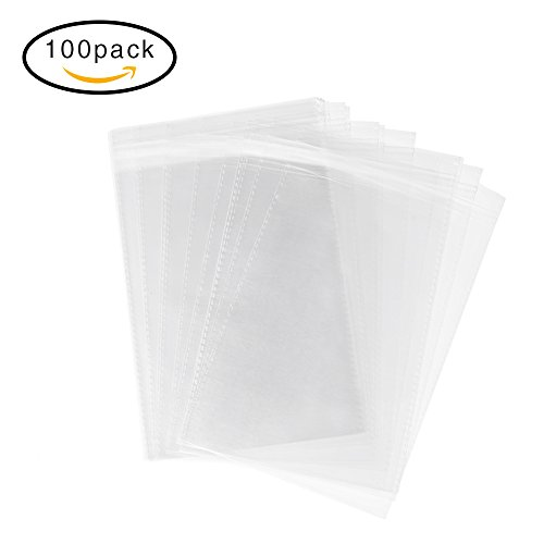 halulu-100-pcs-flat-plastic-self-adhesive-sealing-bags-closure-resealable-pouches-for-bakery-candle-