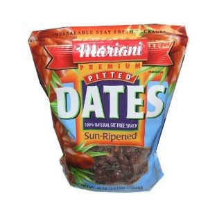 Mariani Pitted Dates 100% Natural Fat Free, 40-Ounce (Fruit Date)