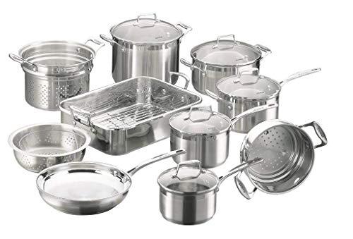 Scanpan 71170000 Impact Cookware 10 Piece Set,Silver