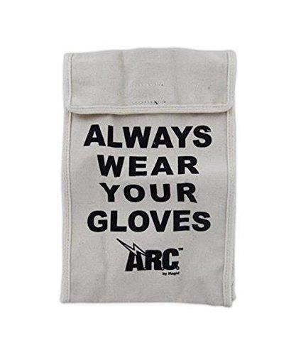 Magid GB12 A.R.C. GB Rubber Insulating Glove Bags, Standard, White