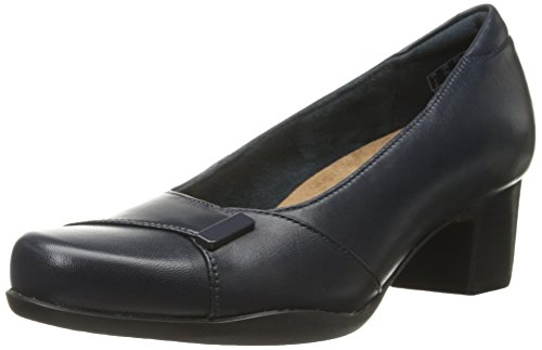 CLARKS Womens Rosalyn Belle Dress Pump Navy Leather mPfRNHDu
